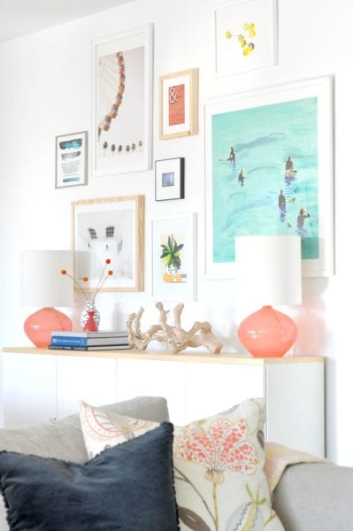 Tips for Creating a Balanced Gallery Wall by House Updated featured on Remodelaholic