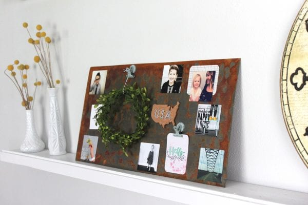 Weathered Industrial Wall Art by The Winthrop Chronicles featured on Remodelaholic