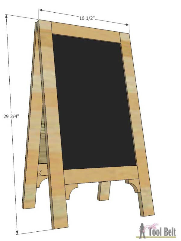 A Frame Chalkboard Easel Sign Overall Dimensions