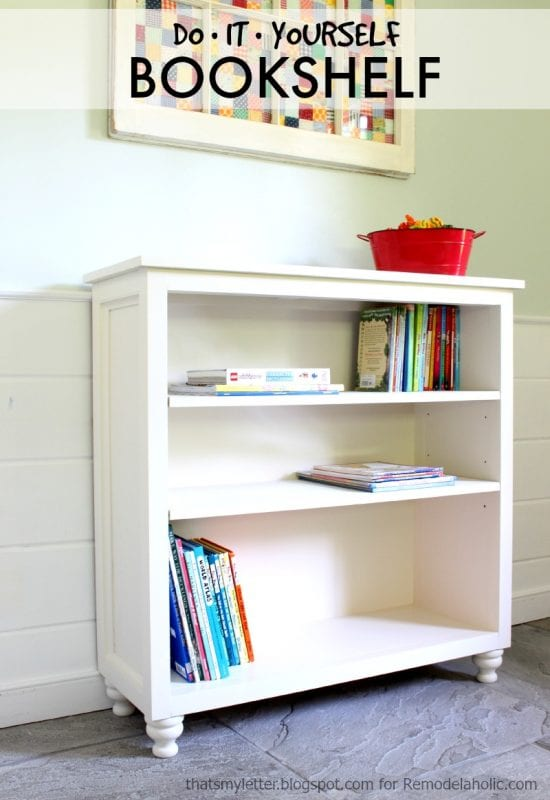 Build a bookshelf with adjustable shelves using this easy-to-follow building plan and tutorial. Perfect for a child's room or storage anywhere you need it.