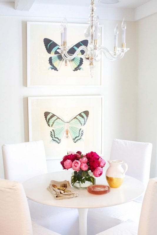 butterfly art via mydomaine