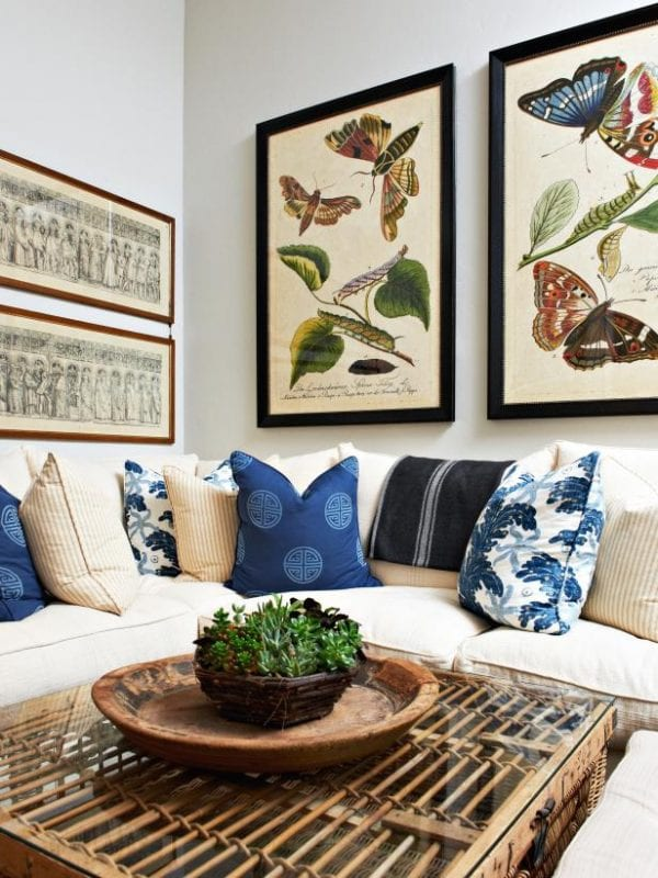 butterfly botanical prints via hgtv