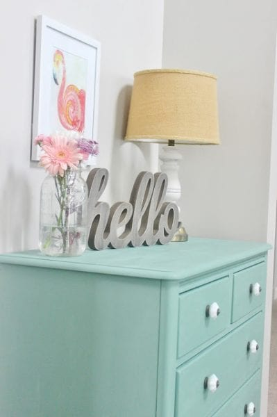 chalk painted dresser