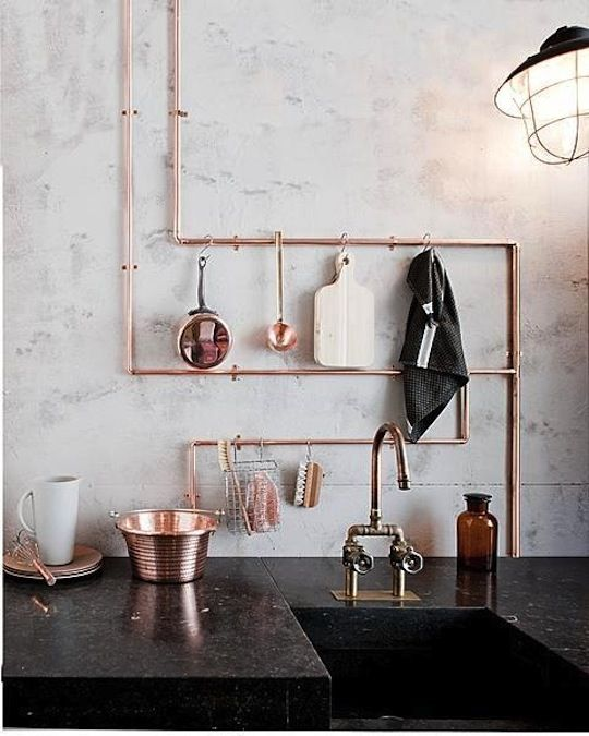 copper pipes - Copper Home Decor
