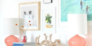 creating a modern colorful balanced gallery wall
