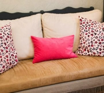 Upcycled Crib into Couch