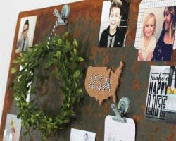 diy aged metal magnet board wall art
