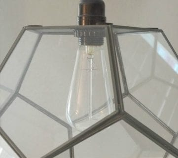 Terrarium to Geometric Pendant Light