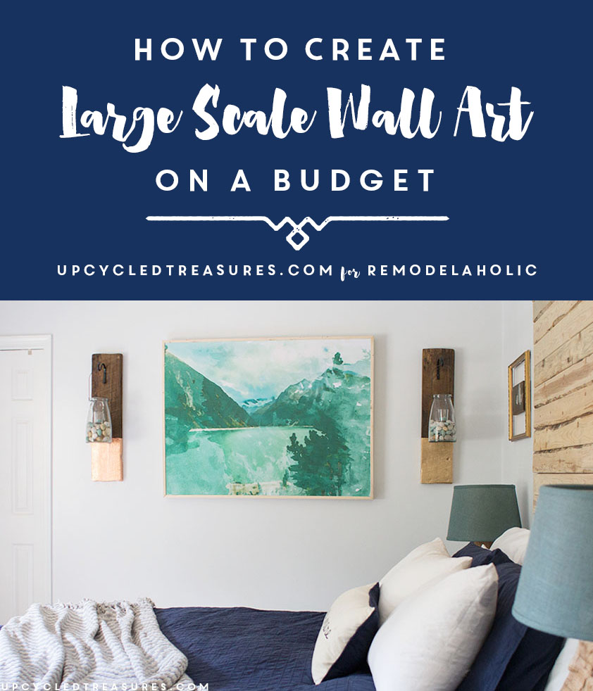 Diy Wall Art Big : Remodelaholic inexpensive diy large scale wall art