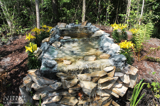diy waterfall pond