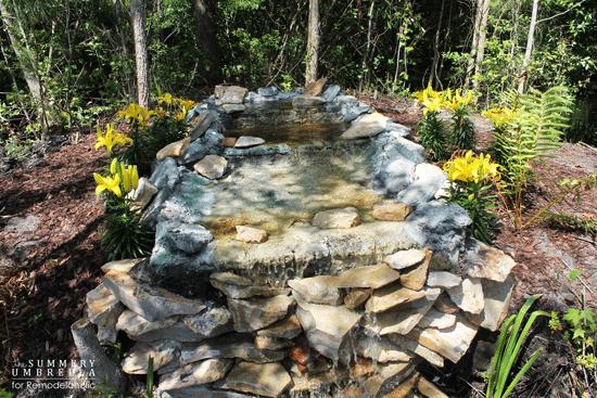 diy waterfall pond