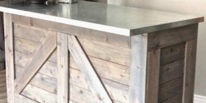 diy rustic bar ikea hack