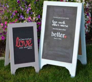 Diy Wood Chalkboard Easel Sign, A Frame Standing Sign, Woodworking Plans HerToolbelt For Remodelaholic