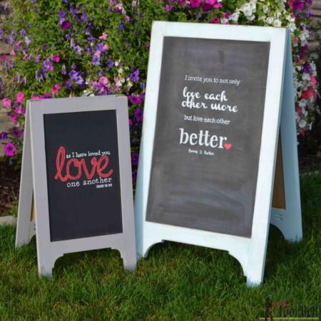 Diy Wood Chalkboard Easel Sign, A Frame Standing Sign, Woodworking Plans HerToolbelt For Remodelaholic