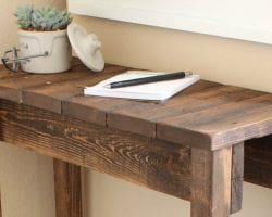 feature DIY-Console-Table-Tutorial-by-Curb-to-Refurb-featured-on-Remodelaholic