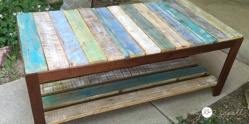 Remodelaholic Update A Glass Top Coffee Table With A Pallet