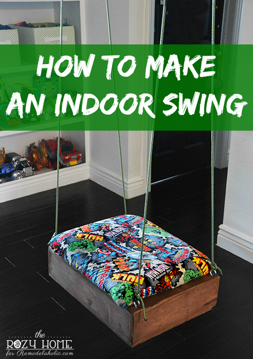 How to Make an Indoor Swing - this is so perfect for a basement rec room or kids playroom!