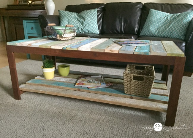 Gl Top Coffee Table Into Pallet