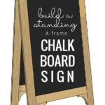 How To Build A Standing A Frame Chalkboard Easel Sign, Remodelaholic