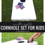 How To Build Cornhole Boards, Small Size, From Remodelaholic