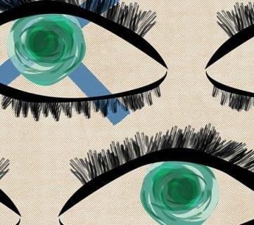 Free Modern Art Printable: Kaleidoscope Eyes