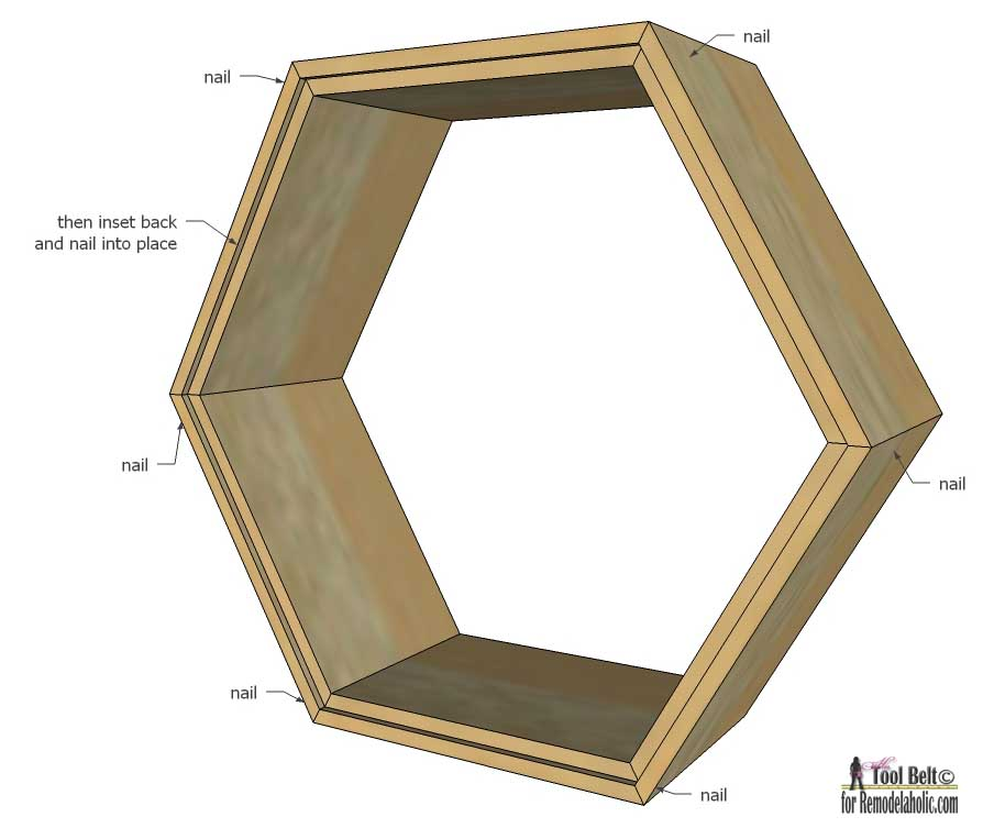 Remodelaholic diy geometric display shelves - House design new model shelves ...