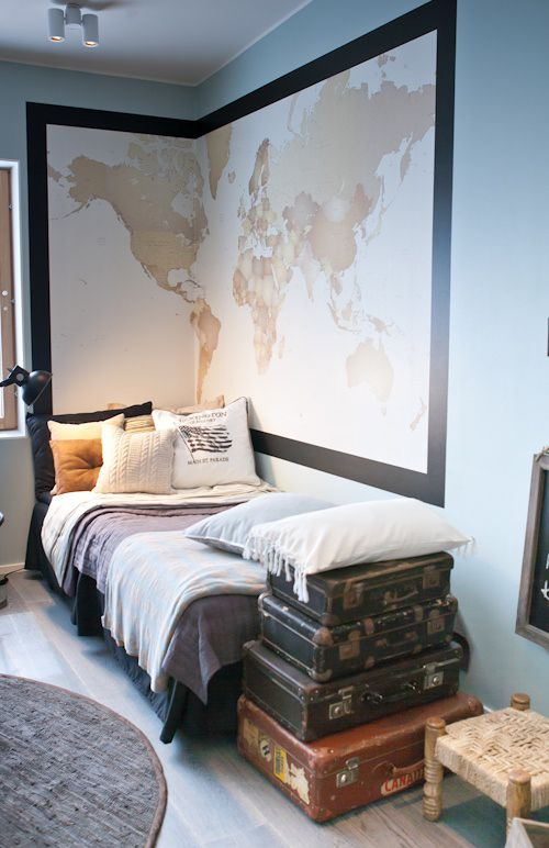 Teen boy room, nautical inspiration | Found on blog.templeandwebster.com.au