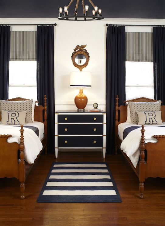 Classic teen boy room, nautical inspired | Found on decorpad.com
