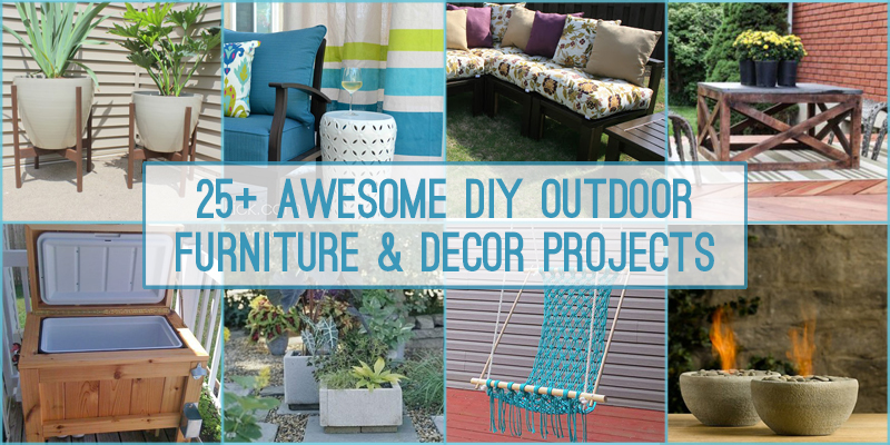 Remodelaholic DIY Outdoor Furniture And Decor Projects - Outdoor diy projects
