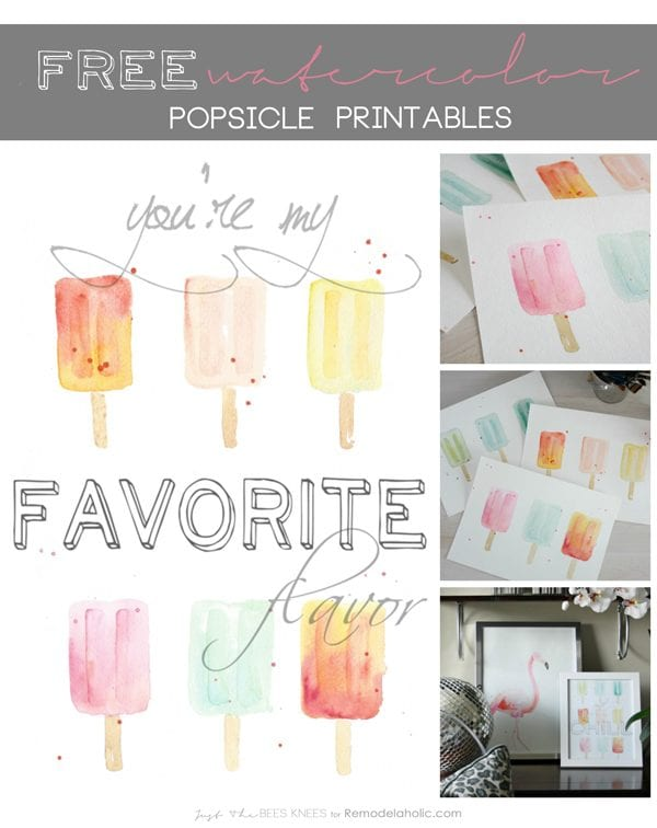 popsicle watercolor printable