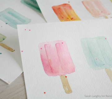 Summer Printable Watercolor Popsicle Wall Art Set For Mantel Or Gallery Wall, Sarah Langtry For Remodelaholic