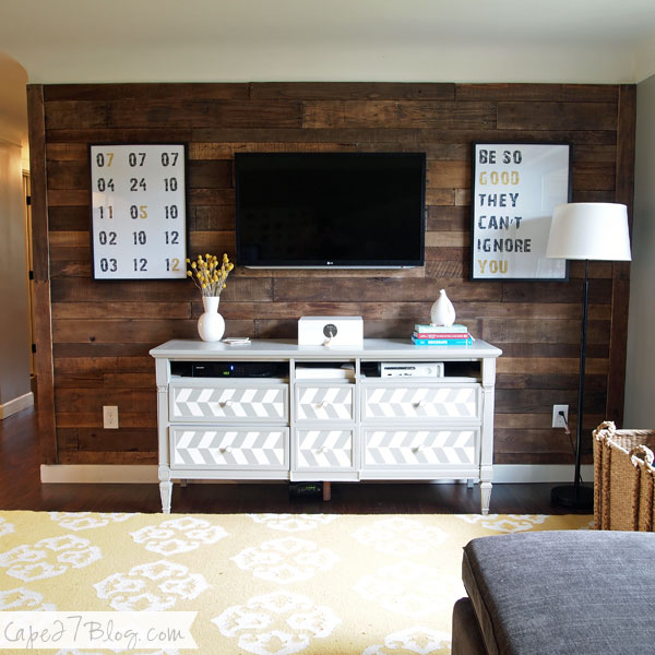 Remodelaholic 95 Ways To Hide Or Decorate Around The Tv Electronics And Cords