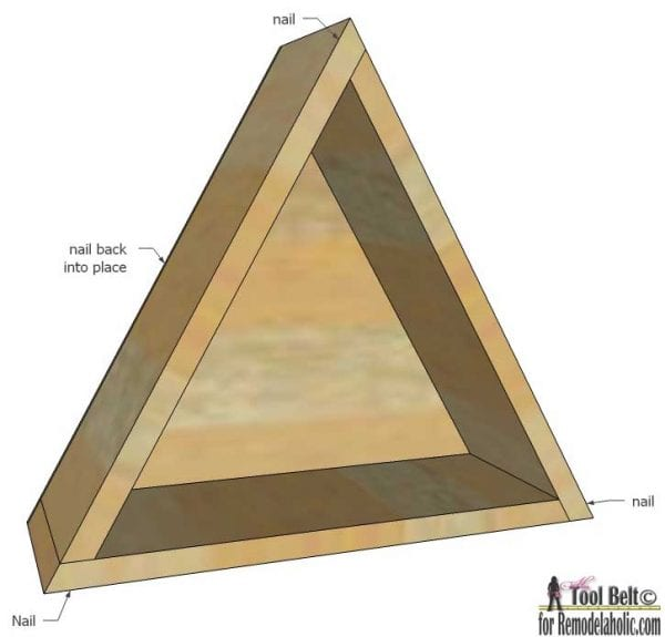 triangle shelf - assembly