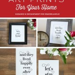 Typographic Word Art Printable Set For Couples, Let's Stay Home, Happily Ever After #remodelaholic