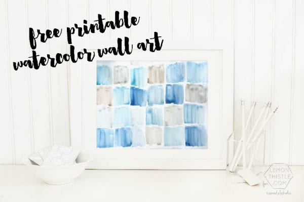Free Printable Watercolor Wall Art- large sizes!