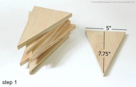 wood bunting step 1