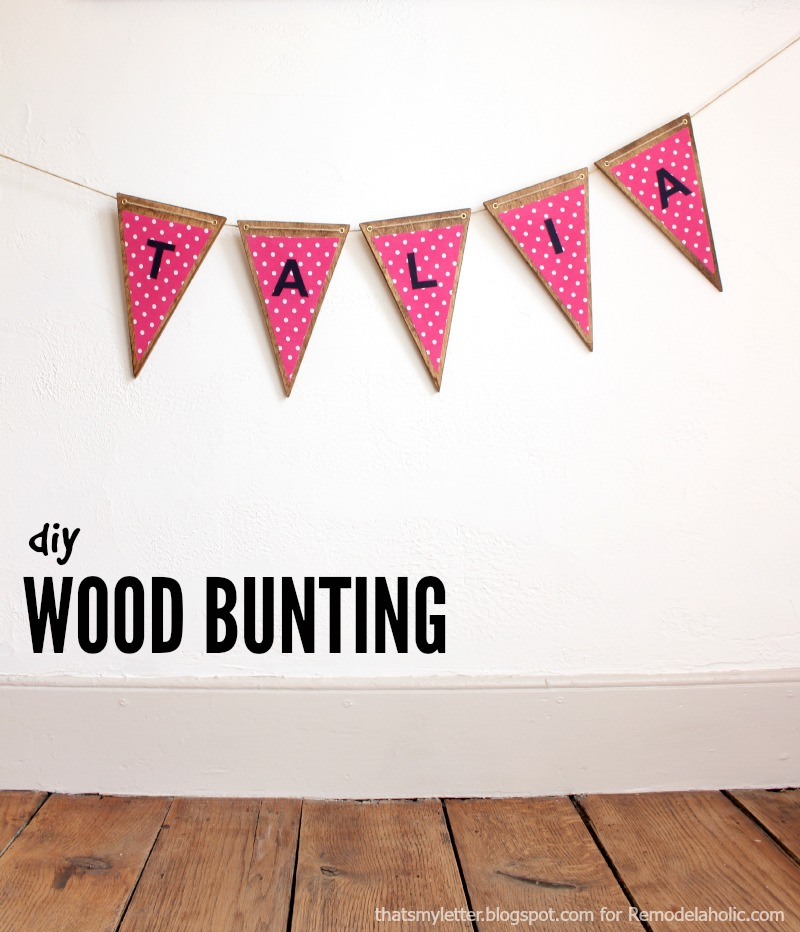 How To Make Fabric Bunting With Letters - Home Safe