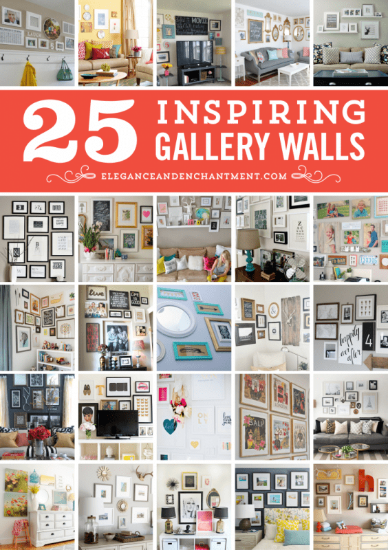 DIY Wall Decor Ideas: 25 inspiring gallery walls (Elegance and Enchantment)