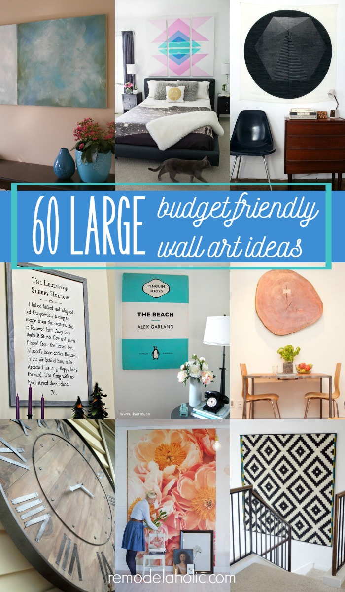 Decorating A Large Wall Remodelaholic 60 Budget Friendly Diy Large Wall Decor Ideas