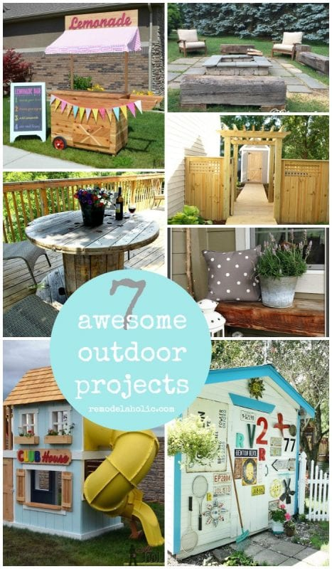 7 Awesome Outdoor Projects | Give your summer some fun with these great outdoor projects for your yard and deck