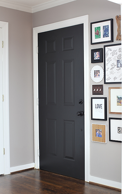 Behr Black Suede painted door (7th House on the Left)