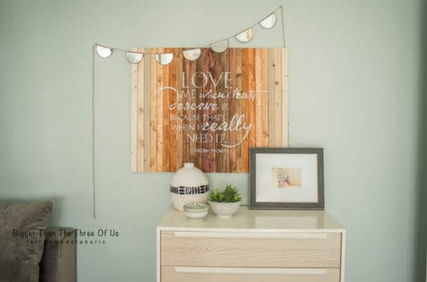 DIY Love Quote Wall Art by Bigger Than The Three Of Us for Remodelaholic
