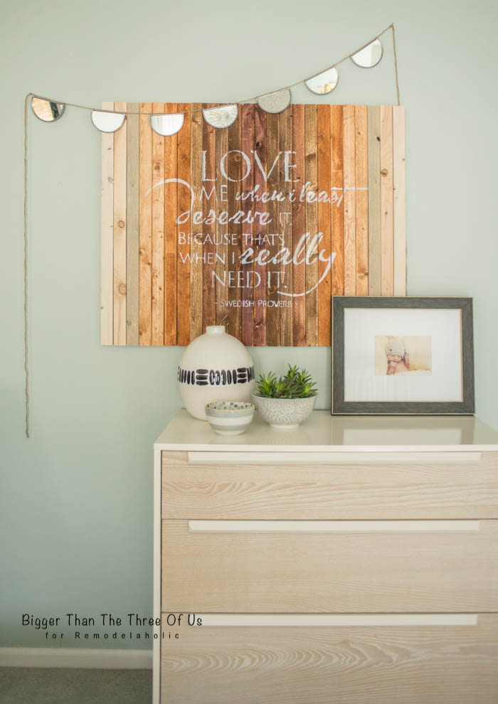 Simple DIY Ombre Wood Art by Bigger Than The Three Of Us for Remodelaholic