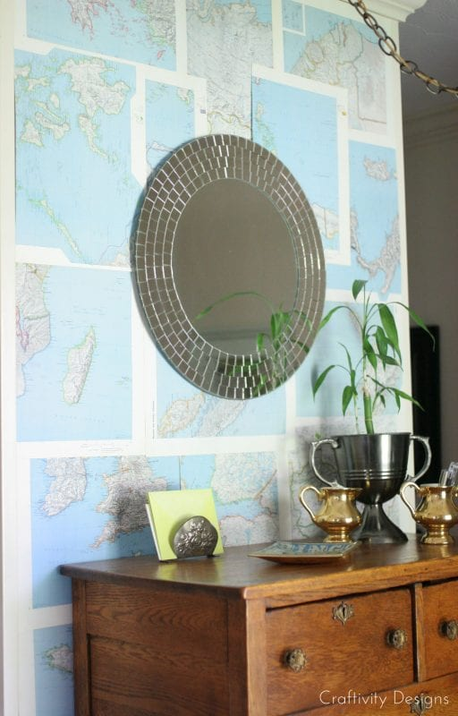 DIY Wall Treatment with No Nails Required by Craftivity Designs for Remodelaholic