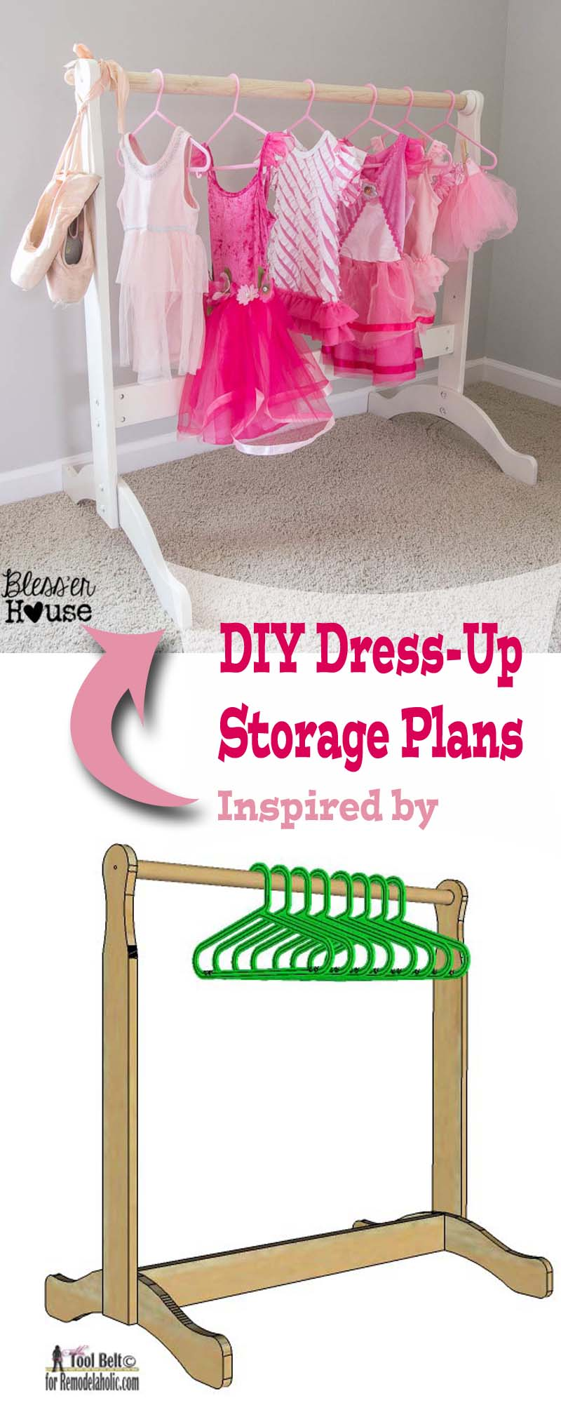 Build Your Little Princess Or Super Hero A Place To Store Their Outfits.  Free DIY