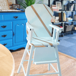 Vintage high chair makeover.
