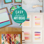 Easy Art Ideas DIY Abstract Art Kids Can Do, Remodelaholic