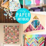 Easy Art Ideas DIY Paper Art For Kids Wall Decor, Remodelaholic