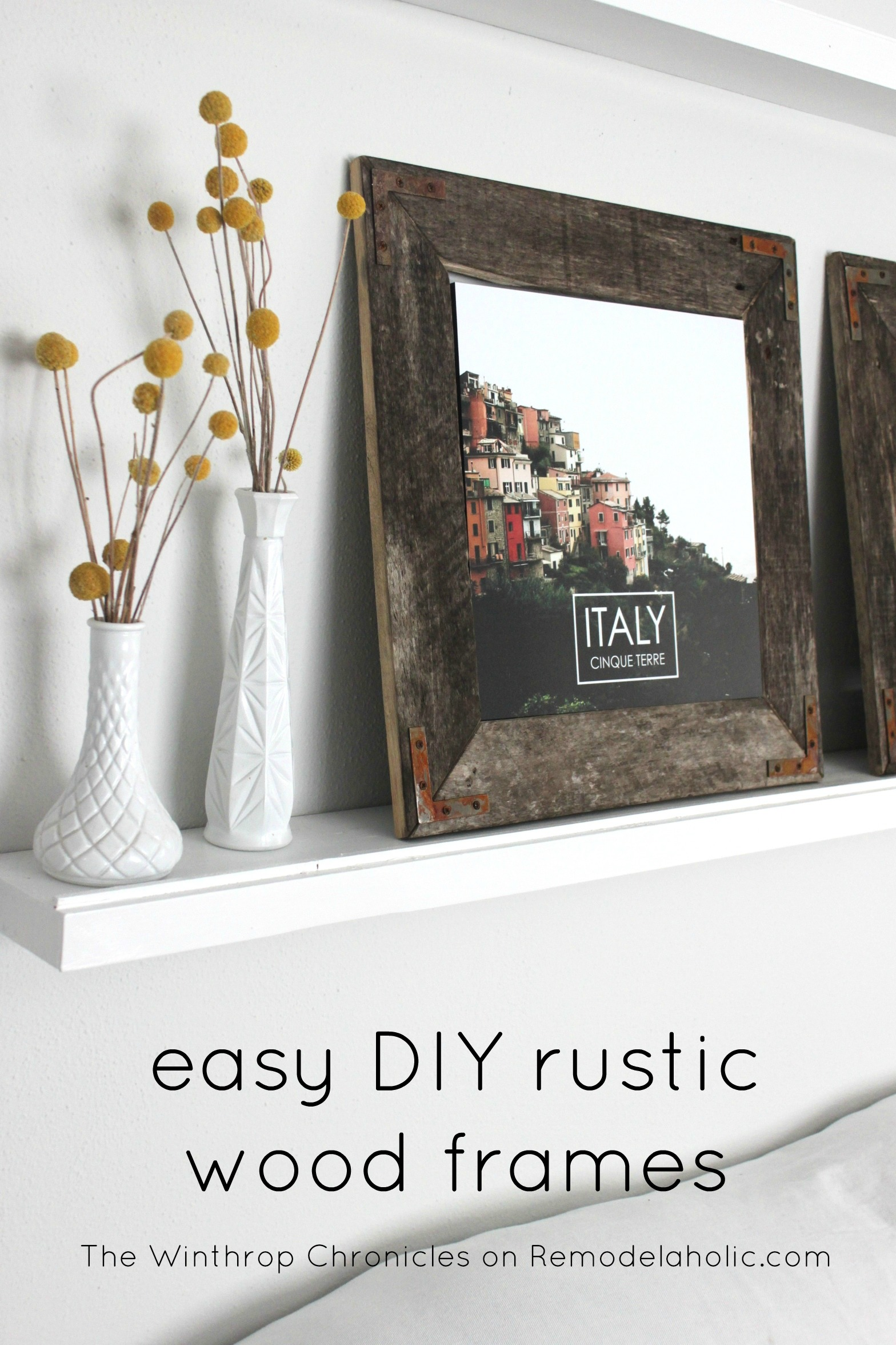 Remodelaholic   Easy DIY Rustic Industrial Picture Frame