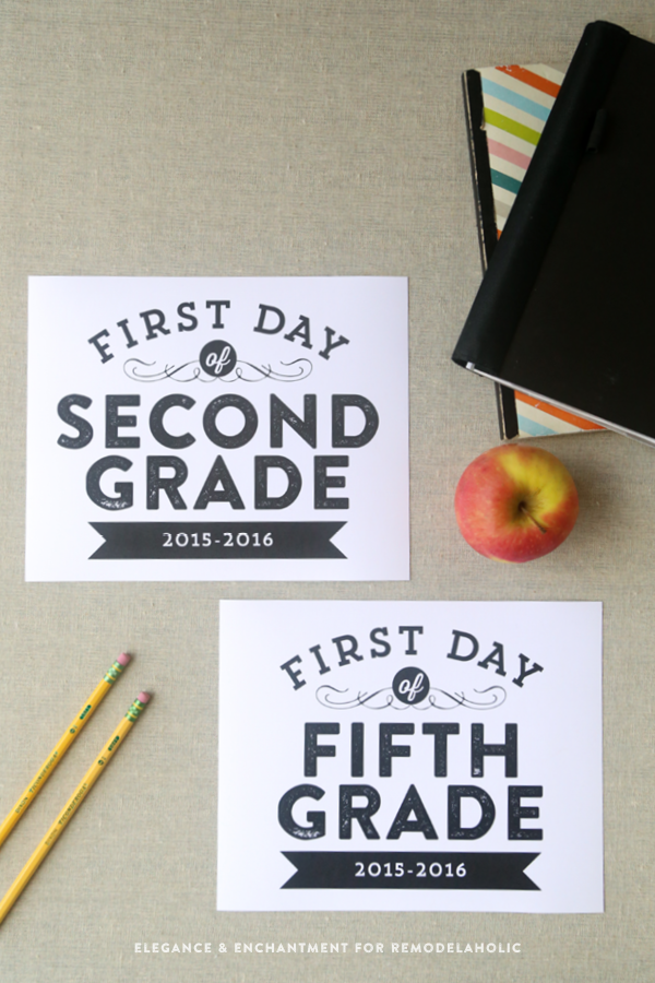 signs, sized 8 x 10 for the first day of school— from pre-school ...